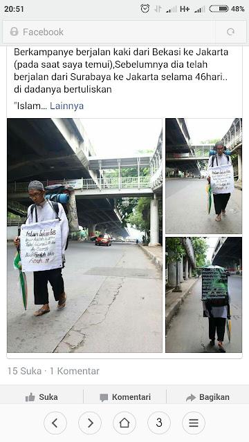 subhanallah, pemuda ini berjalan 46 hari kampanye islam bukanlah agama teror
