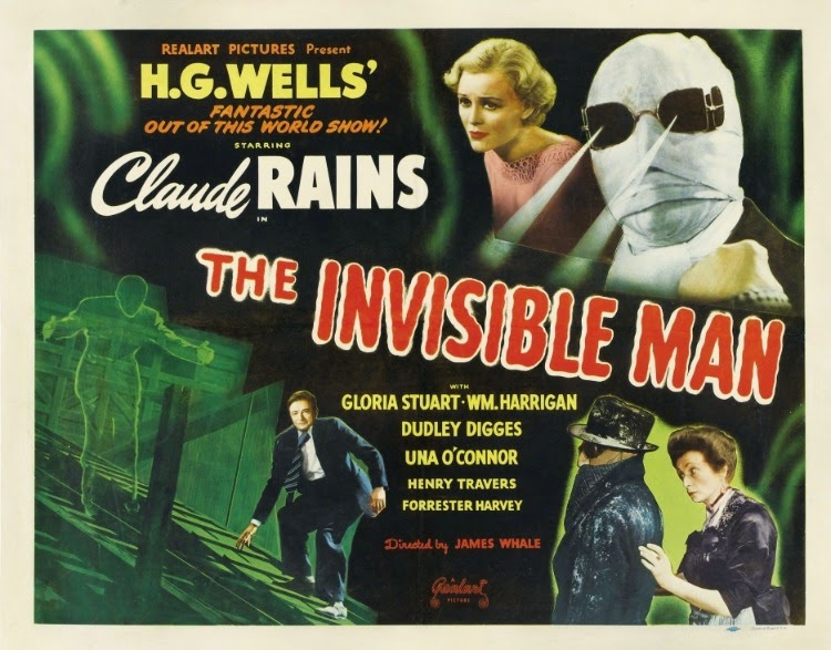 A Vintage Nerd, Classic Film Blog, Old Hollywood Blog, Classic Monster Movies, The Invisible Man