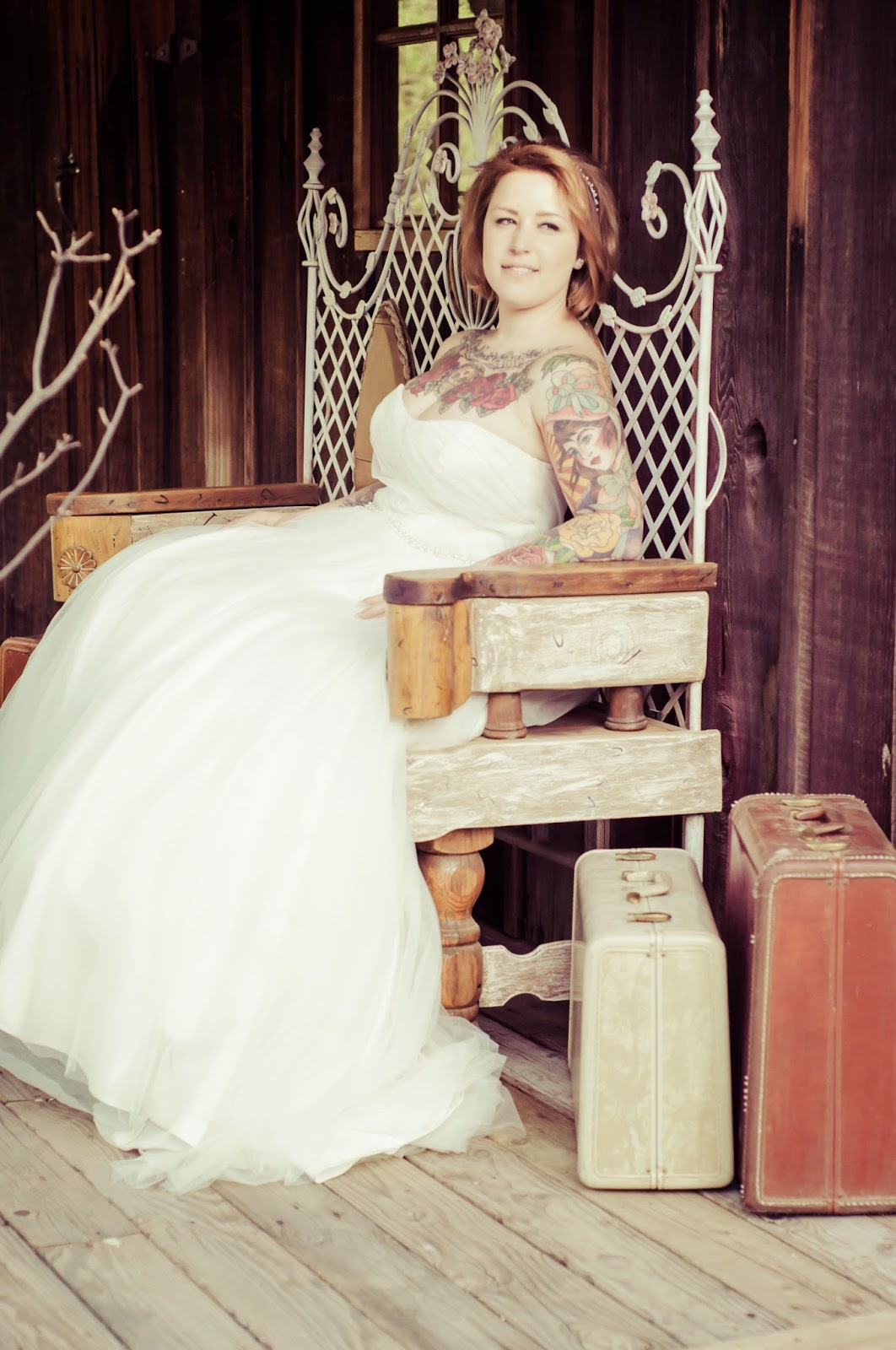 shabby chic tattoo wedding