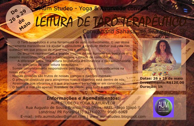 LEITURA DE TARÔ TERAPÊUTICO, com Anand Sahasa, de São Paulo