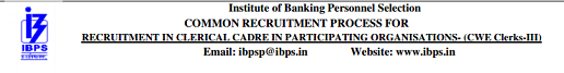IBPS Clerk CWE Recruitment 2013-2014 - www.ibps.in Online registration