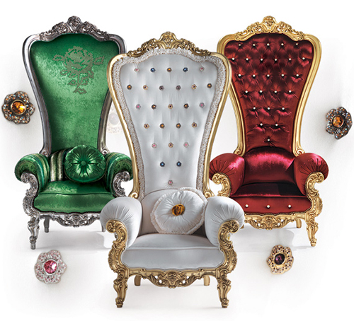 Furnitures For Decor: Chair King and Queen: Regal Armchair Throne by Caspani