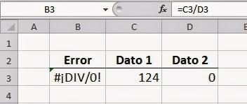 Errores en Excel