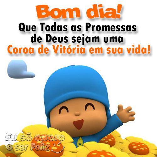 Bom dia! Que todas as promessas de Deus sejam uma coroa de vitória  em sua vida!