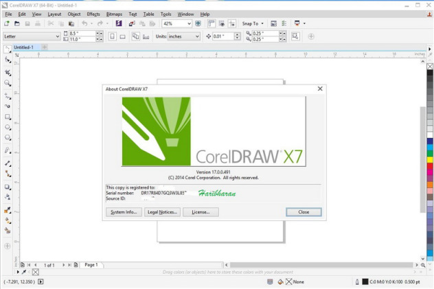 corel draw x7 activation code 64 bit