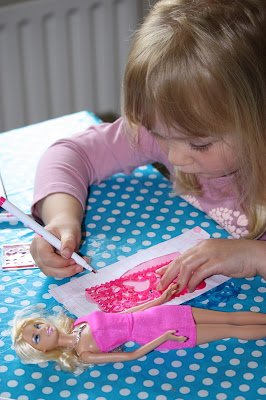 Stencilling with the Barbie Design and Dress Studio Doll