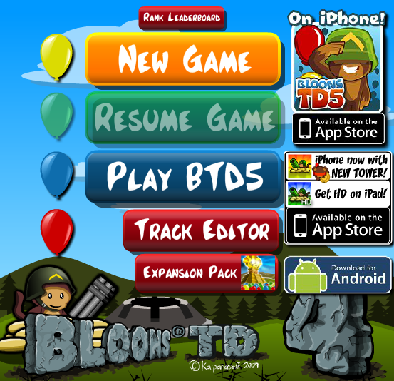 Balloon Game inc Balloons Tower Defense Games