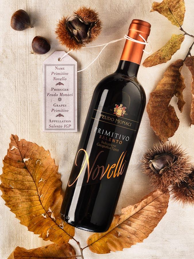 vino wine Primitivo Novello Salento Feudo Monaci