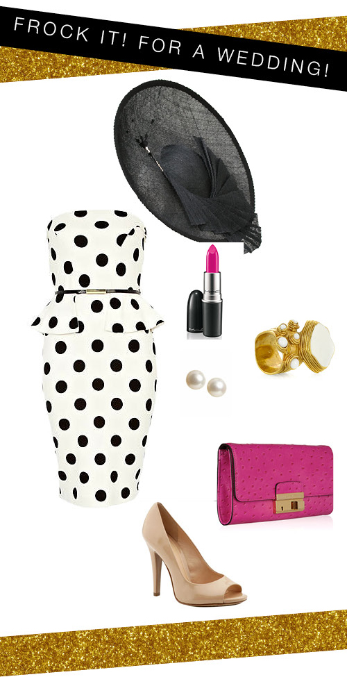 Polka-dot Peplum Dress - Wedding Mood Board