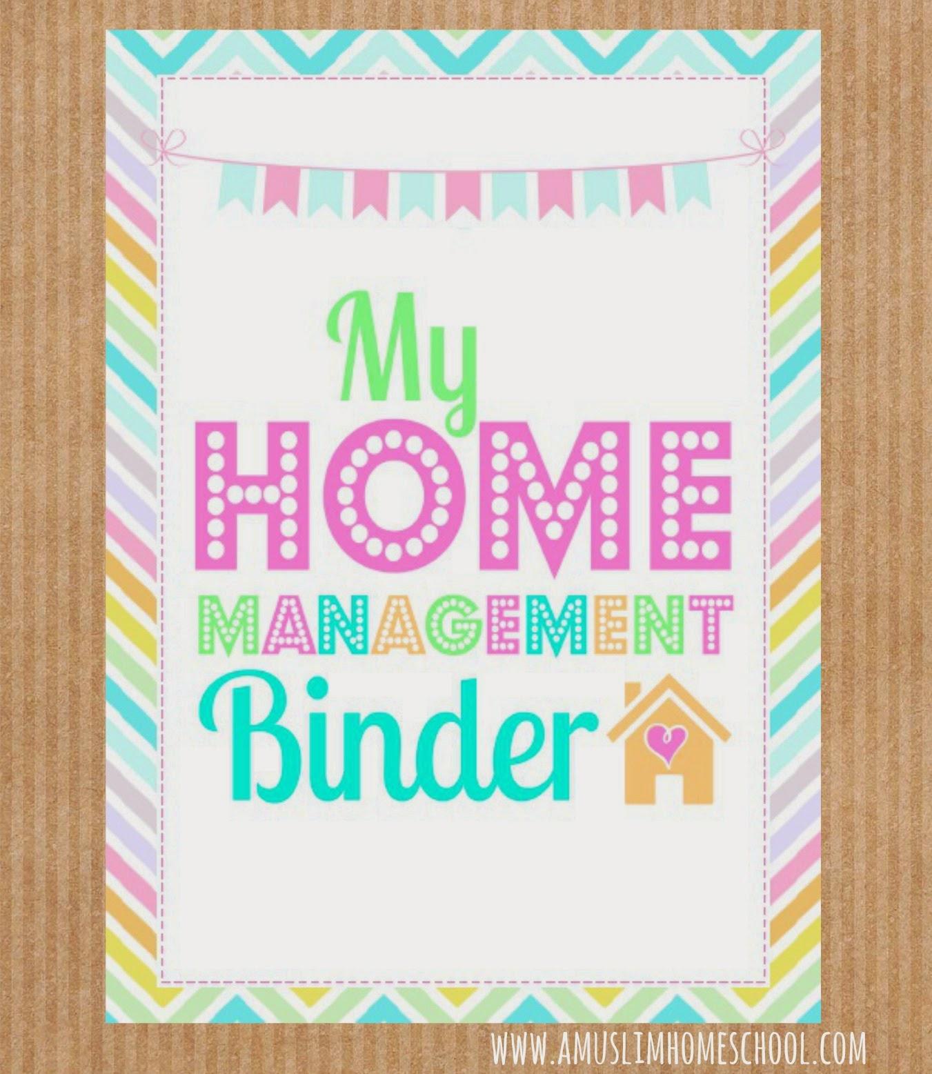 A muslim homeschool free home school binder printables for Home planning binder