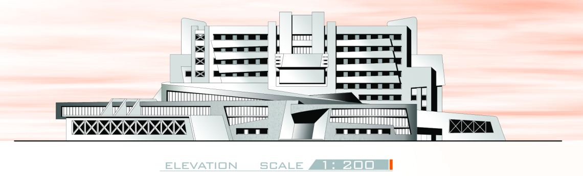 Plan Elevation Section Of Hospital : Graduation projects varsity and educational hospital