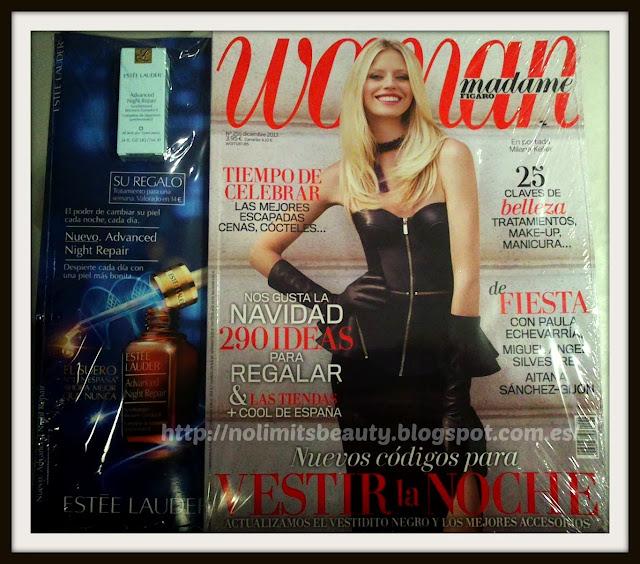 Revistas Diciembre 2013: Woman (regalos y muestras)