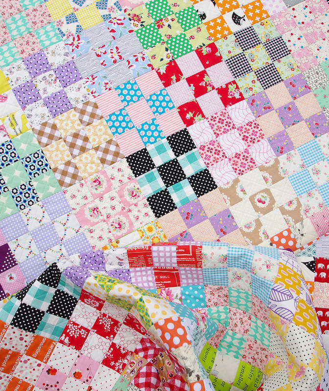 Nine Patch Checkerboard Quilt & Tutorial | Red Pepper Quilts