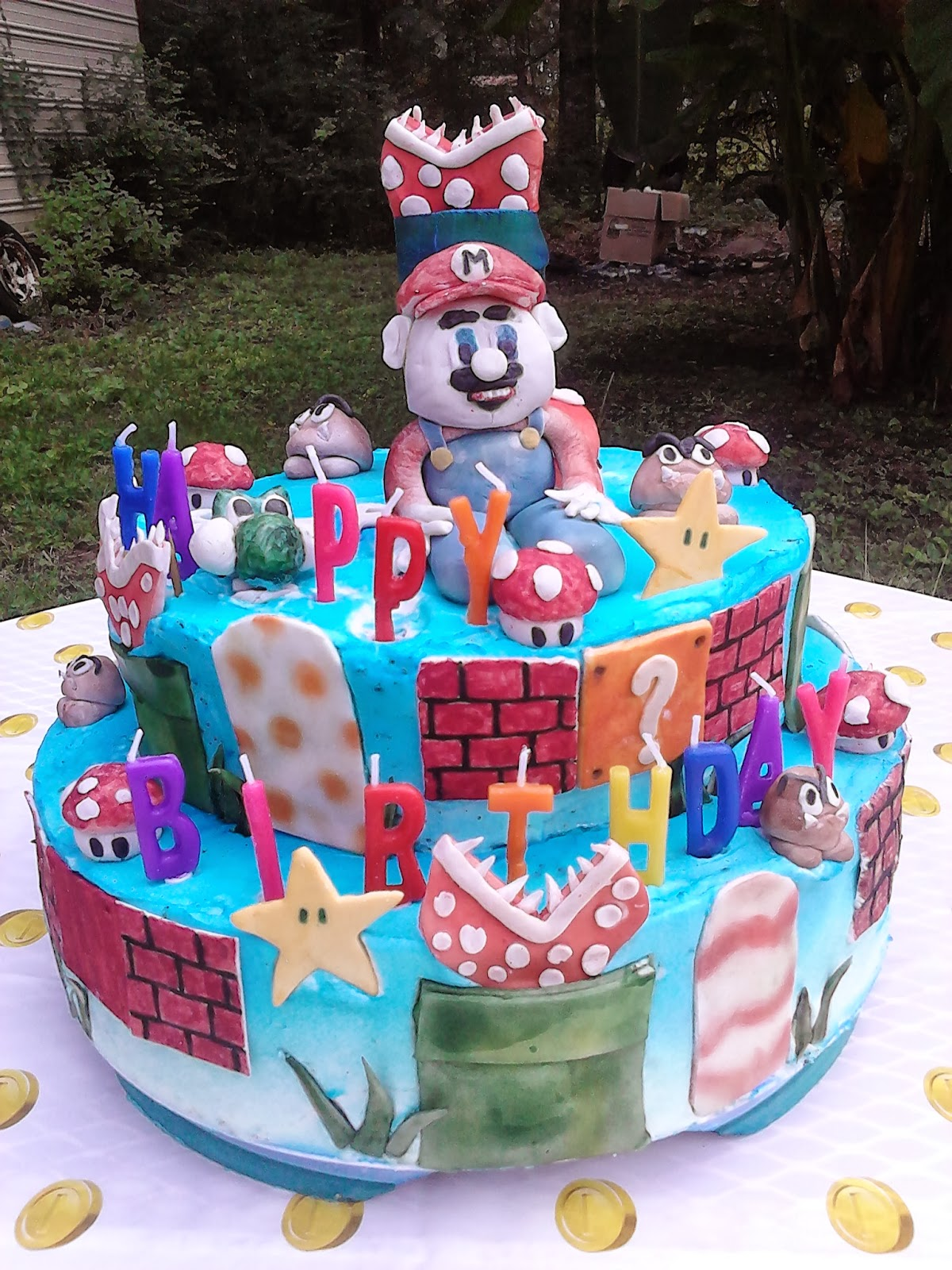 Food Talk Daily Wii Super Mario Bros Birthday Cake How To Make A