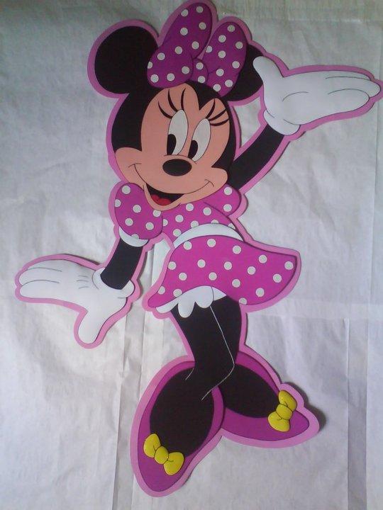 Como hacer una Minnie Mouse en foami - Imagui