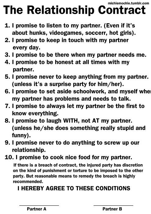 Love: The Relationship Contract