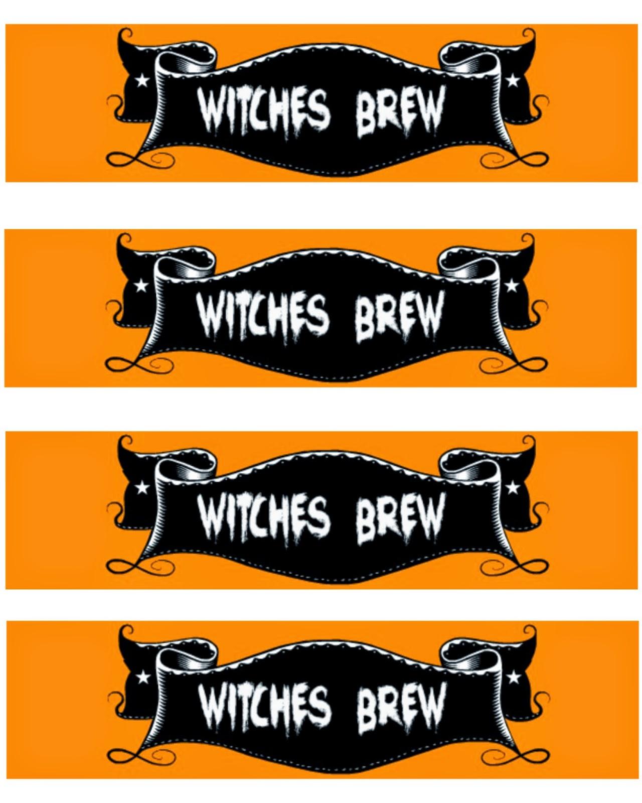 FREE Printable Halloween Water Bottle Labels #SpookySnacks #shop