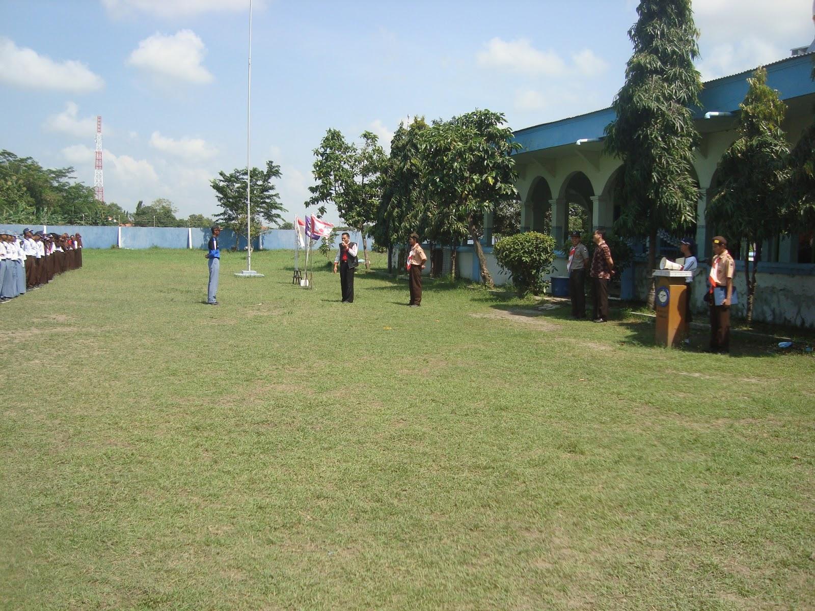 Latihan Gabungan bersama Pramuka dan PMR SMA Negeri 1 Pemalang