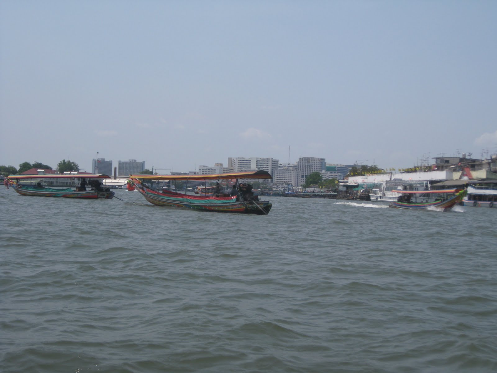 Longtailboat on river chao phraya