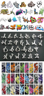 Graffiti Fonts (big collection)