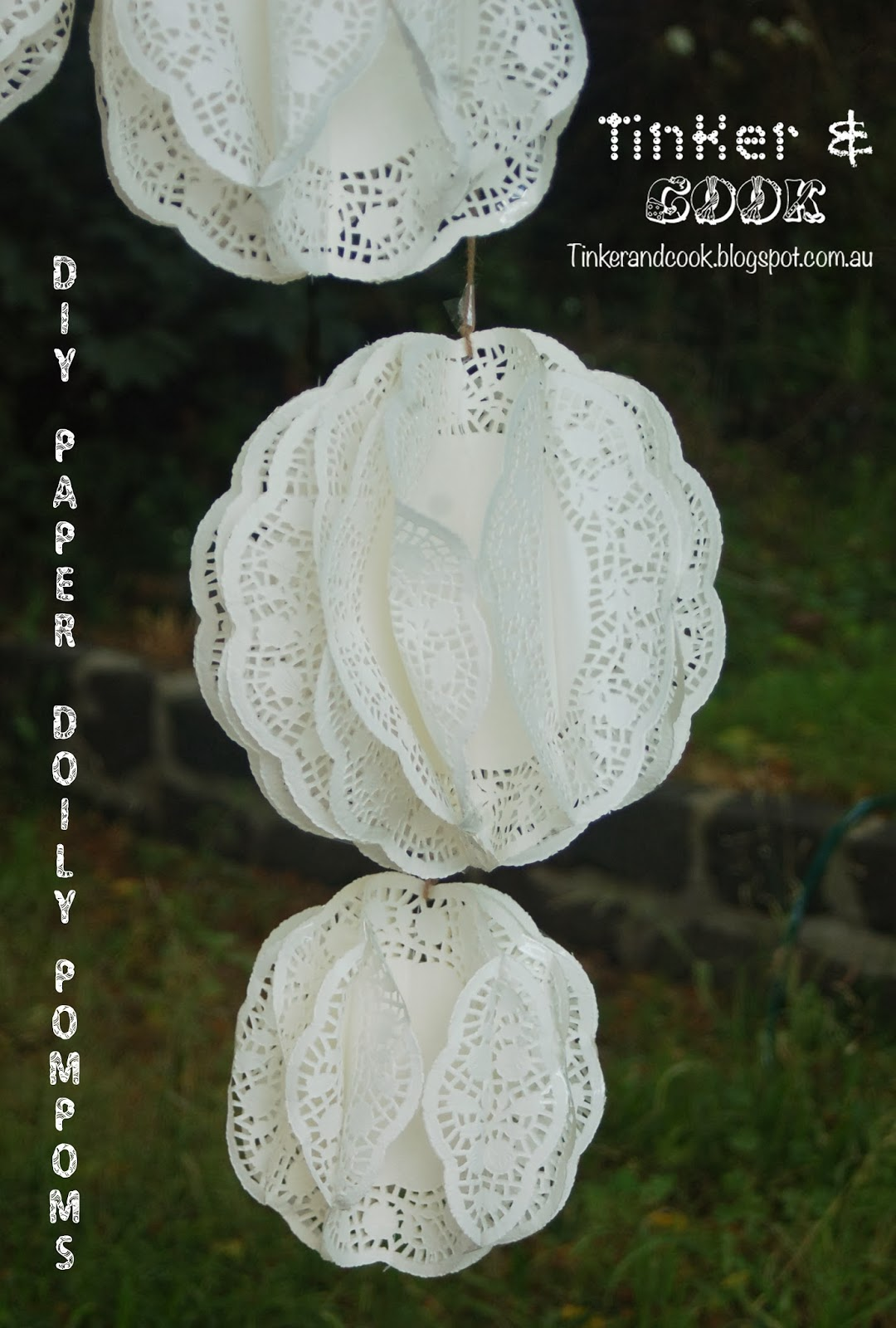 Tinker And Cook Diy Paper Doily Pompom