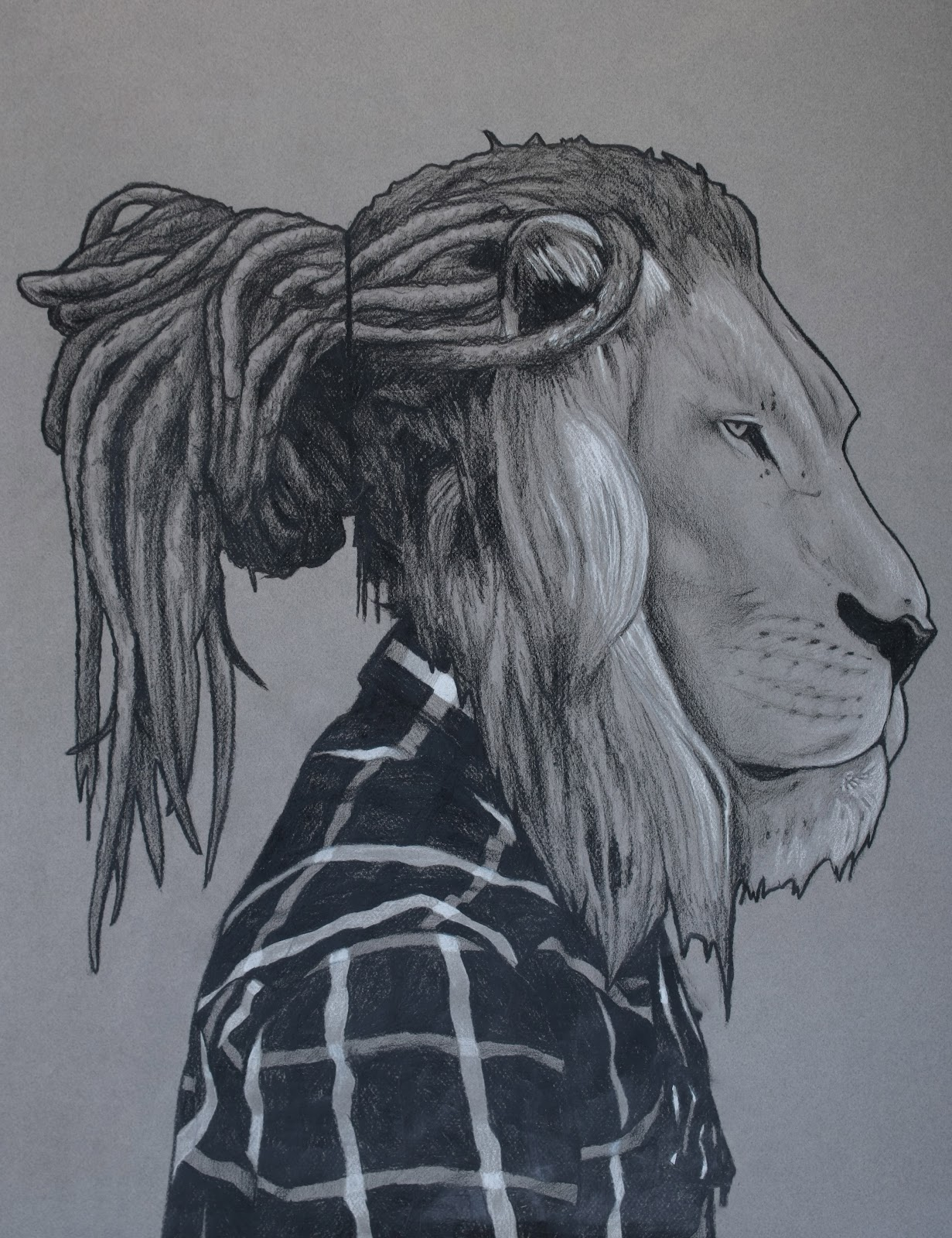 Lion with dreads tattoo drawings - photo#11