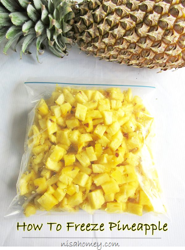 how to freeze pineapple