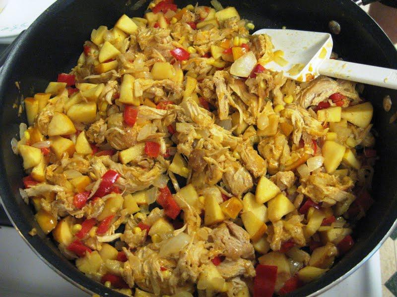 Debbi Does Dinner... Healthy & Low Calorie: Apple Chicken Quesadillas