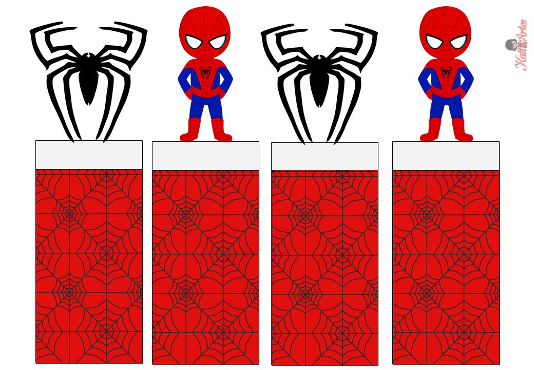 Spiderman Envoltorios Especiales para Golosinas, para Imprimir Gratis.