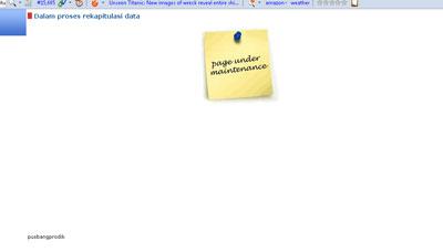Pengumuman UKA 2012 atau Pengumuman Hasil UKA sergur.kemdiknas.go.id Maintenance
