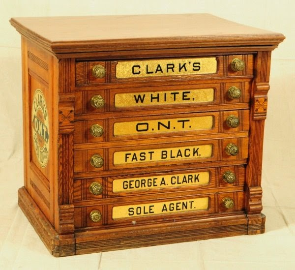 Weather you have a J&P Coats Spool Cabinet or a Clark's Spool Cabinet we  have decals for both. Label your drawers easy and restore your spool  cabinet to ... - Furniture Knowledge: SPOOL CABINET SUPPLIES