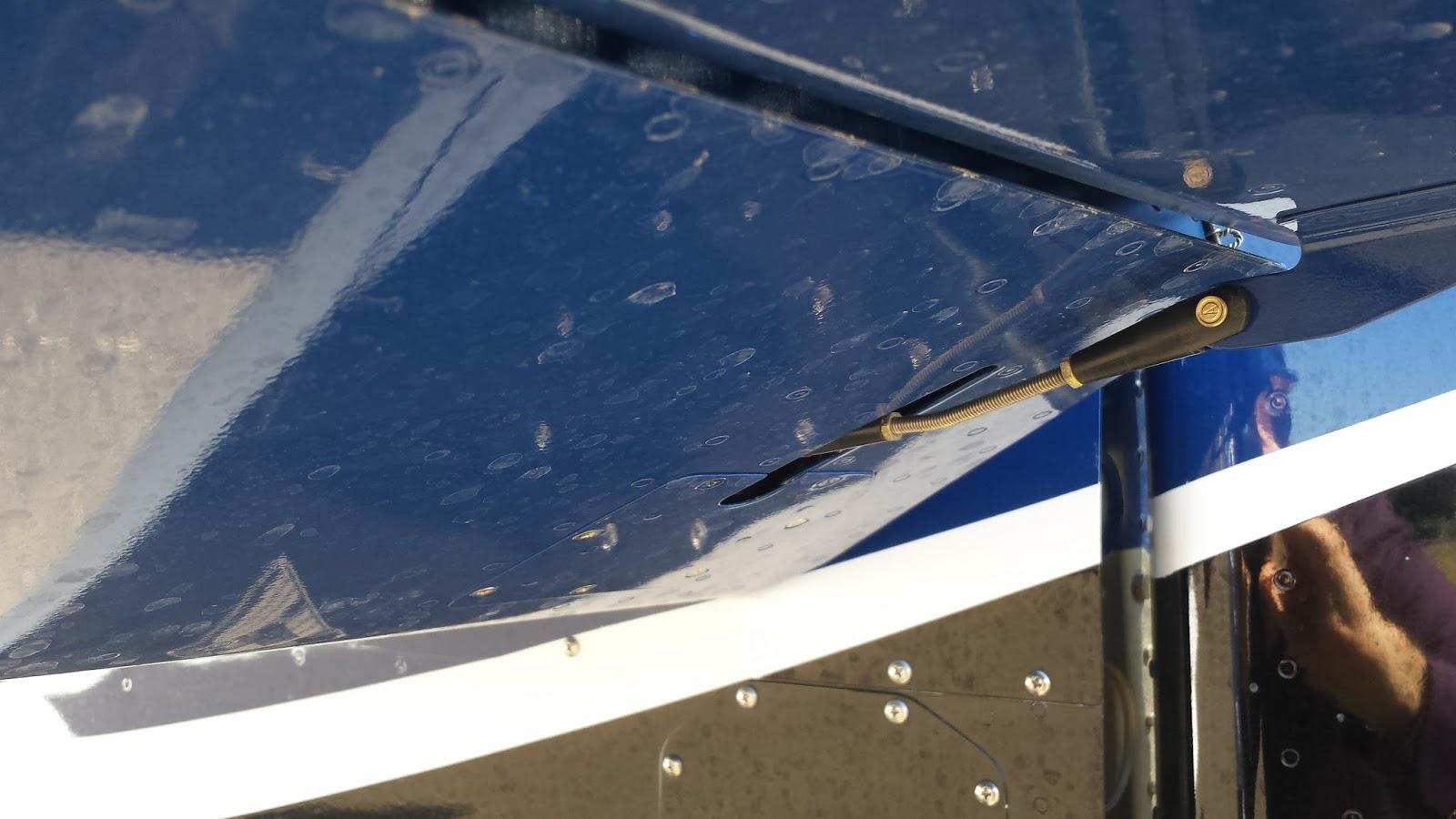 Left elevator trim pushrod (changed for kit)