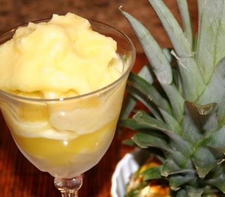 Pineapple Sorbet, the Special Dessert