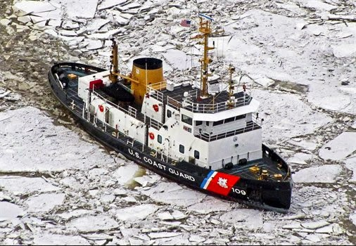 U.S. COAST GUARD BREAKING THE ICE
