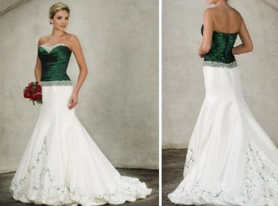 Occasions to blog 2013 wedding color trend emerald green for White and green wedding dress