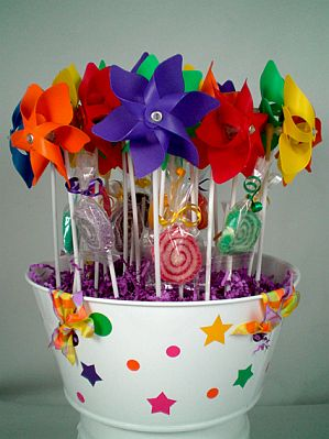 Decoracion de fiestas infantiles con flores - Adornos mesa de centro ...