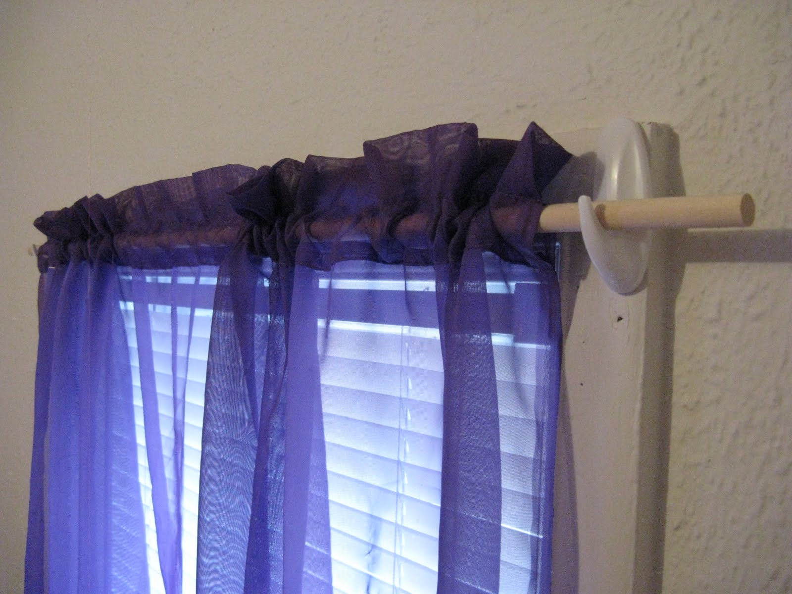 3 Inch Rod Pocket Sheer Curtains 3M Command Soap Dish