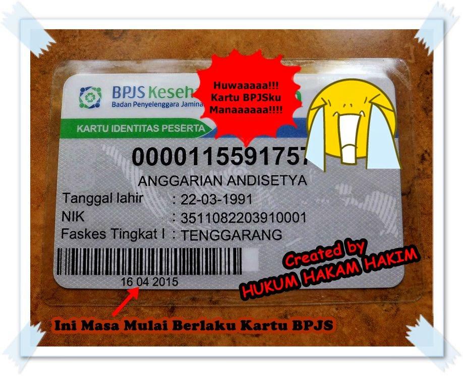 tampilan atau gambar kartu BPJS Kesehatan