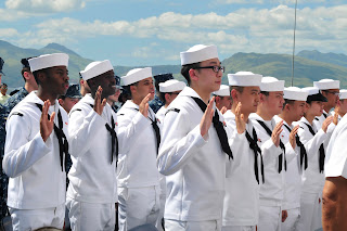 The Oath of Allegiance is Administered in Subic Bay (photo courtesy of the United States Navy)