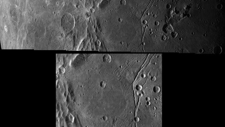 imágenes del 'terminador' de Caronte, la mayor luna de Plutón.