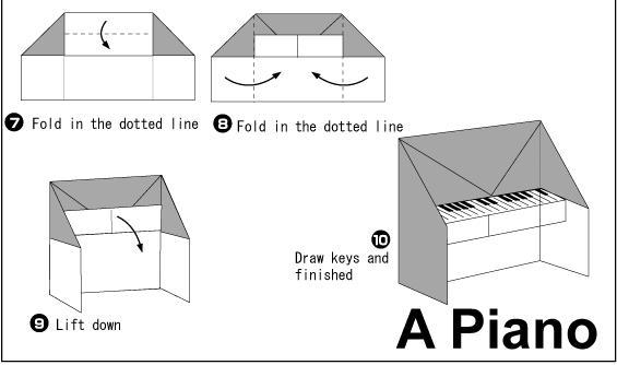 origami piano origami piano