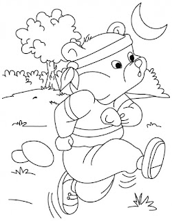 kids running coloring pages - photo#18