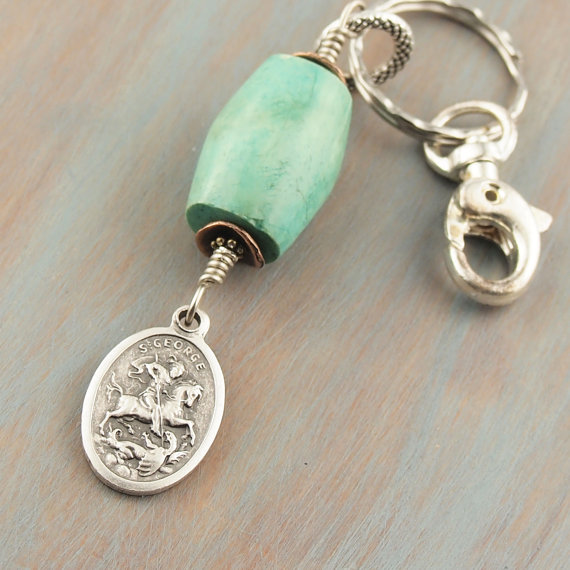 Patron Saint Key Chains Feature Unique Natural Gemstone Specimens