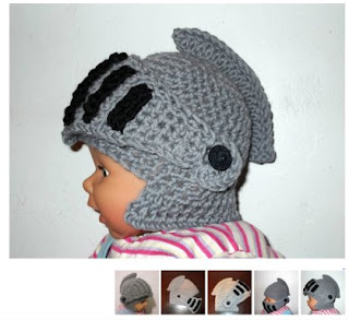 Knight Helmet from craft-patterns.blogspot.gr