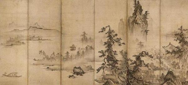 ほかにも、渡辺崋山の「遊魚図」と「芸妓図」(いずれも重要文化財)、英一蝶の「朝暾曳馬図」、谷文晁