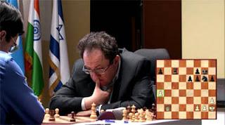 Echecs à Moscou : le challenger Boris Gelfand cherche le plan de gain - Photo © Chessbase