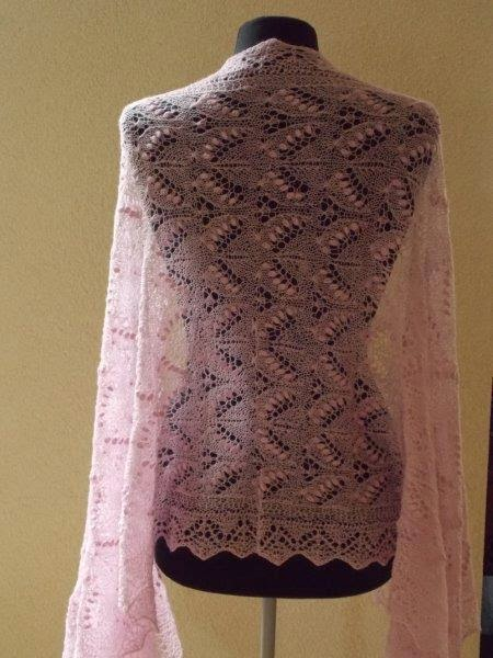 TE KOOP: roze stola, omslagdoek, bruidssjaal.
