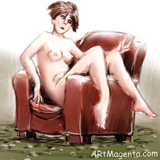 Club chair is a life drawing by artist and illustrator Artmagenta