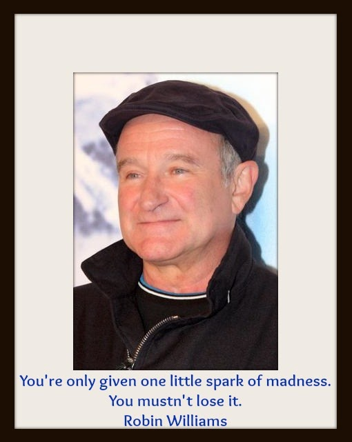 You're only given one little spark of madness. Robin Williams