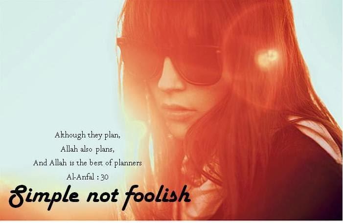 simple NOT foolish